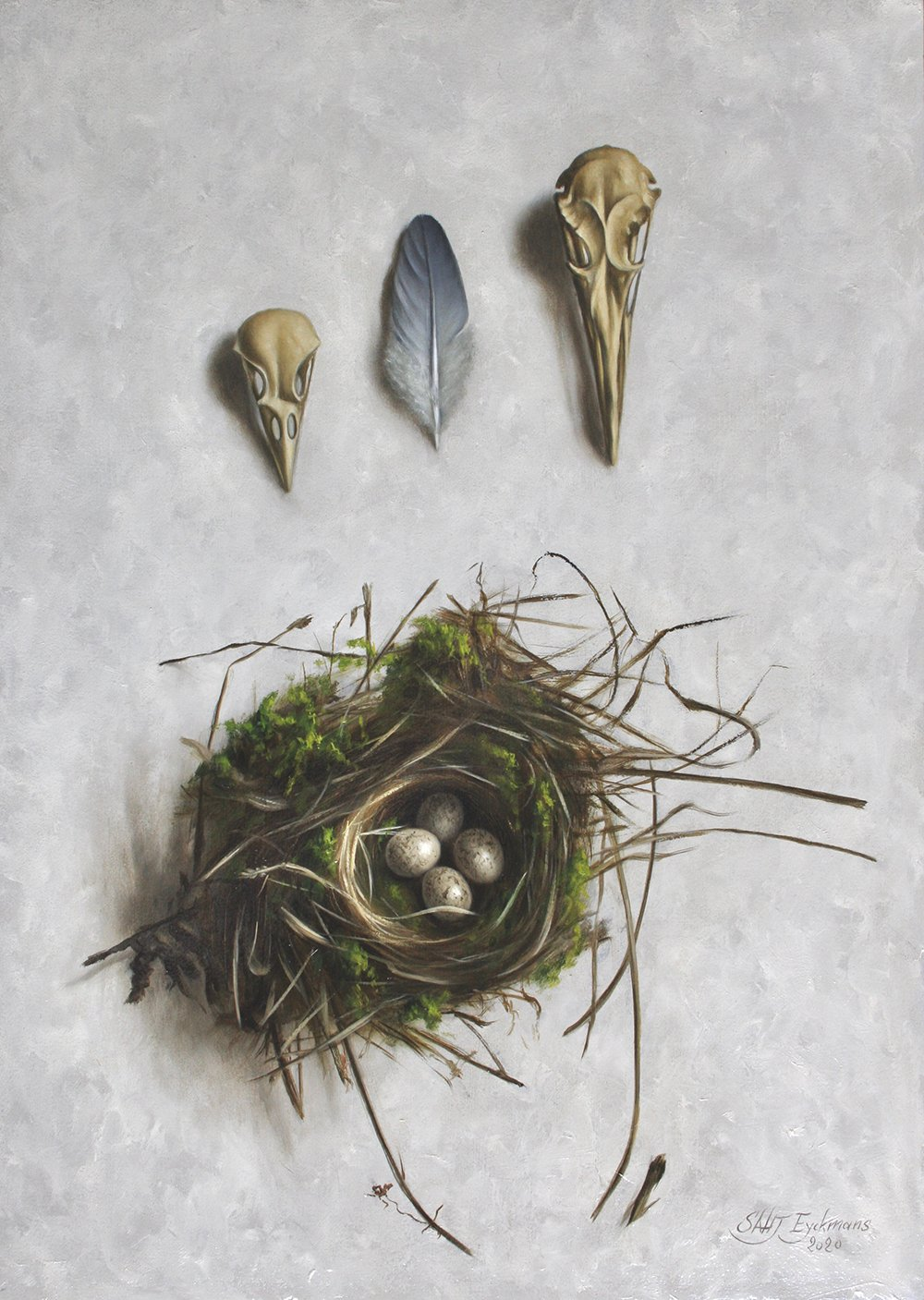 """Little nest with skulls"""
